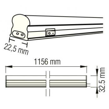Світильник світлодіодний лінійний настінно-стельовий LED Horoz Electric SIGMA-14 14W 6400K 052-001-0120