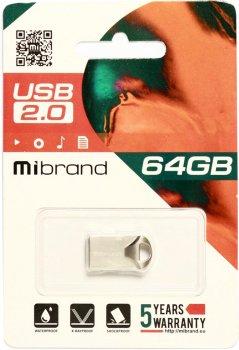 Mibrand Hawk 64GB USB 2.0 Silver (MI2.0/HA64M1S)