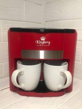 Кофеварка Капельная Kingberg KB-1991 750ВТ Красная