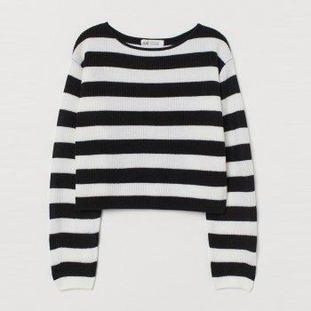 Джемпер H&M 824878 Чорно-білий