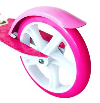 Самокат Scooter на великих колесах 109B Рожевий