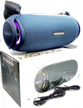 Портативная Bluetooth колонка HOPESTAR H48 + LED подсветка Blue