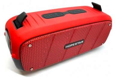 Портативна колонка Bluetooth Hopestar A20 Red