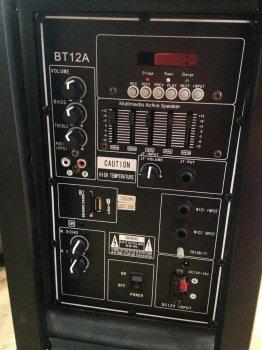 Колонка акумуляторна 12 Ukc BT12A Bluetooth 100 Вт 1 мікрофон Black (par_UKC BT 12A)