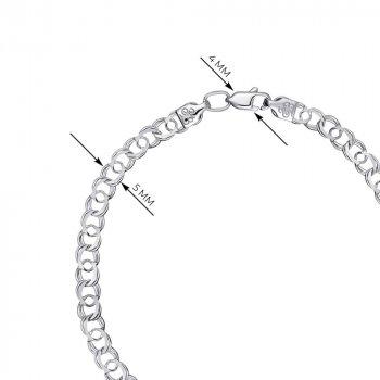 Серебряный браслет в плетении арабский бисмарк 000121512