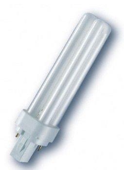 Лампа люмінесцентна Osram DULUX D 18W/840 G24d-2 (4050300012056)