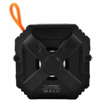 Портативна бездротова блютуз колонка Hopestar T7 Bass Mini Speaker 3 Вт з флешкою радіо FM і захистом від вологи Bluetooth 5.0 Чорна (48287)