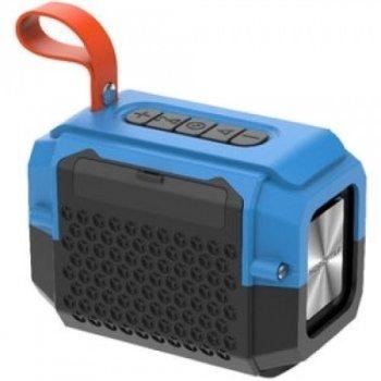 Портативна бездротова блютуз колонка Hopestar P18 Mini Speaker 5 Вт з флешкою радіо FM та вологозахист Bluetooth 4.2 Синя (48289)