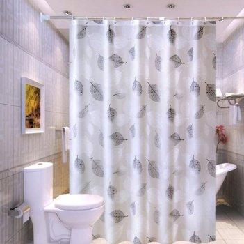 Шторка для ванної водонепроникна Листя 200 * 200 Peva