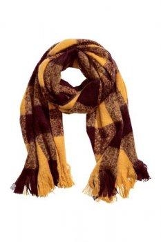 Большой шарф H&M 40x220 см. Горчичный/Клетка (0417878015)