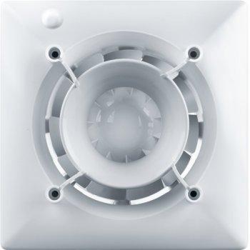Вентилятор дизайнерский VENTS 125 Эйс DESIGN CONCEPT + Декоративная панель ФПА 180х180 Глас-1 белый (натуральное глянцевое стекло