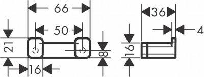 Крючок двойной Hansgrohe Addstoris 41755670 черный матовый
