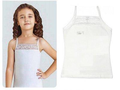 Майка для девочек, 2шт, 4382, Baykar белый