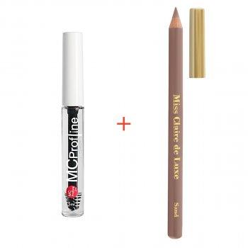 Набір косметики для брів Miss Claire Гель для брів + Пудровий олівець SAND