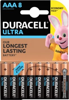 Щелочные батарейки Duracell Ultra Power AAA 1.5В LR03 8 шт (5000394063488)