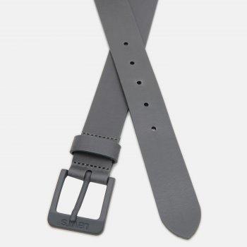 Мужской ремень кожаный Levi's Free Metal 226938-2713-55 90 см Regular Grey (7613417691353)