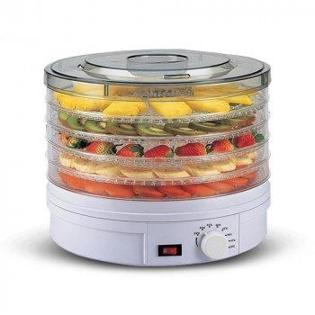 Сушилка для овощей и фруктов с терморегулятором Supretto дегидратор на 5 секций Белая