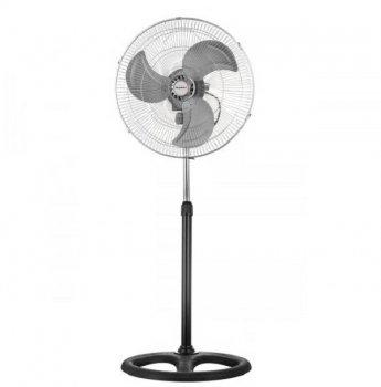 Вентилятор 3в1 напольный настольный настенный VILGRAND VF453 100Вт подсветка автоповорот 1,4 м мощный серый