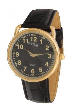 Мужские часы NewDay классические с арабской цифрой Желтые