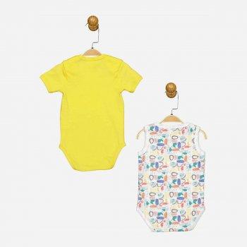 Боди-футболка Panolino PL17516 2 шт Бело-желтая