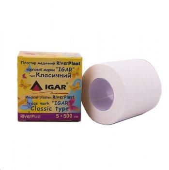 Пластырь медицинский IGAR RiverPlast на тканевой основе (хлопок) 5 см х 500 см