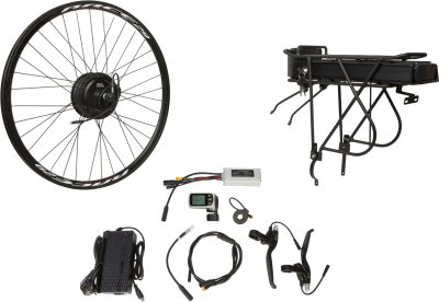 "Електричний велонабір на багажник Velotrade Мотор-колесо 29"" задній редуктор 500 Вт 48 В 12.5 А·год 20 A (ELBK-071)"