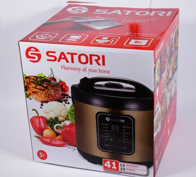 Мультиварка Satori SM-41973-5GL, 900Вт,5л,керам.покр.,скляна.кришка,стакани для йогурта,41 прогр.