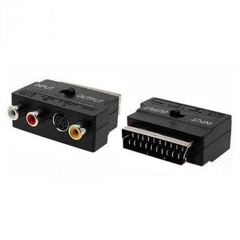Переходник SH 3009 адаптер для видеосигнала Черный (zx-1254)