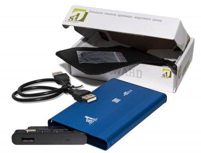 """Внешний карман 1StCharger SATA HDD/SSD 2.5"""", USB 2.0, Blue (HDE1STU2520BB)"""