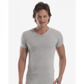Чоловіча футболка Oztas 1062-A світло-сіра 50% бавовна 50% поліестер