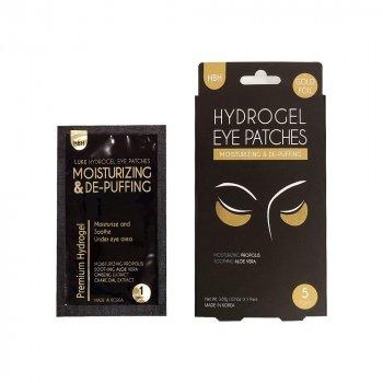 Патчі під очі Hanwoong Luke Hydrogel Eye Pathes Moisturizing & De-Puffing Gold Foil гідрогелеві з фольгованим покриттям золото 5 пар (8809089292373)