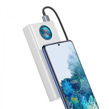 Повербанк Baseus 65W Quick Charge 30000mAh|4USB/Type-C/Lightning, 6A/65W, QC/PD|для MacBook/iPad/iPhone/ Xiaomi/ Samsung/Huawei white