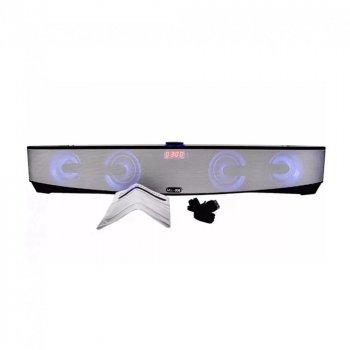 Мощная портативная акустическая стерео колонка (акустическая система) Hopestar MLL-209 Bluetooth USB FM Серая