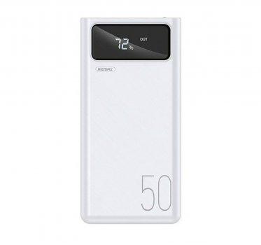 Повербанк Remax RPP-162 50000 mAh, Powerbank с фонариком, белый