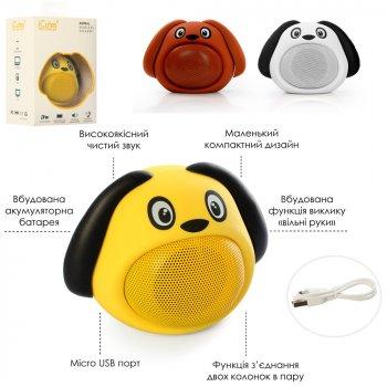 Детская портативная Колонка Metr+ MB-M818 собачка,7.5 см, Bluetooth ,USB