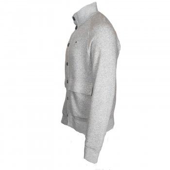 Кардиган Tommy Hilfiger, с высоким воротником, на пуговицах,серый,78E6705 995