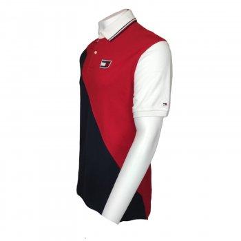 Рубашка поло Tommy Hilfiger James с коротким рукавом в стиле регби в винтажном стиле белый,темно-синий,красный,78C8795611
