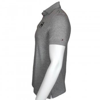Поло Tommy Hilfiger,с коротким рукавам,с логотипом,серый,78E9328732