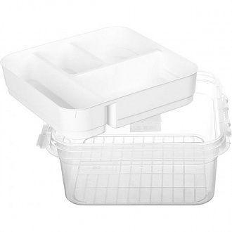 Аптечка пластиковая Gondol G-610-P Бокс Органайзер для лекарств Прозрачный