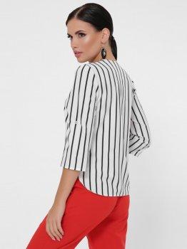 Блузка Fashion Up Daisy BZ-1786A Біла з чорним