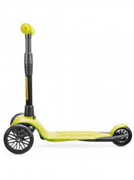 Самокат дитячий триколісний !Зухвалий Старт (чорні колеса, посилена рама, 3 роки гарантії) лимонний