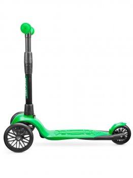 Самокат дитячий триколісний !Зухвалий Старт безшумне шасі Super-CHASSIS (до 50 кг навантаження, 3-колісний) 3 роки гарантії зелений