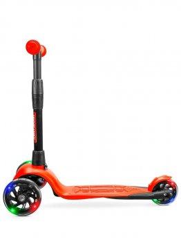 Самокат дитячий триколісний !Зухвалий Стайл (світяться колеса, посилена рама, 3 роки гарантії) помаранчевий