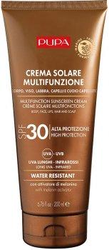 Сонцезахисний крем для тіла, обличчя, губ, волосся і шкіри голови Pupa Sun Care Multifunction Sunscreen Cream SPF 30 200 мл (8011607331758)