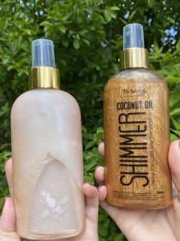 Кокосове масло Top Beauty для засмаги з шимером Shimmer Coconut Oil Gold 200мл