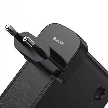 Сетевое зарядное устройство 45W + внешний аккумулятор 10000mAh Baseus Power Station GaN 2 In1 Black (PPNLD-C01)