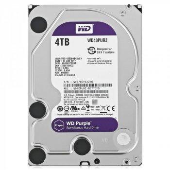 """Дисковий накопичувач внутрішній Western Digital Western Digital 3.5"""" Purple 4TB 3,5"""" SATAIII 5400 об/хв Сріблястий (WD40PURZ)"""