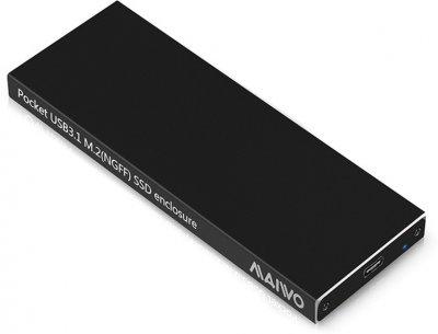 Внешний карман Maiwo для M.2 SSD (NGFF) SATA - USB 3.1 Type-C (K16NС black)