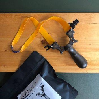 Рогатка для охоты с прицелом DEXT Базовый набор | Мощная боевая рогатка Охотничья рогатка Тактическая рогатка