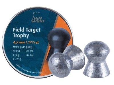 Пули пневматические (для воздушки) 4,5мм 0,56г (500шт) H&N Field &Target Trophy. 14530109